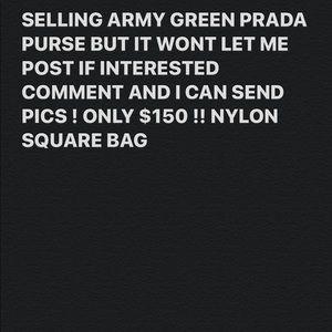 PRADA ARMY GREEN NYLON BAG